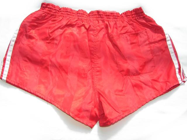 ADIDAS True Vintage GLANZ SPRINTER 80er Shorts 80s Gr. L nylon schwarz